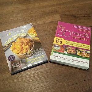 2 vegan cookbooks